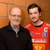 Ordföranden Göran Strid och lagets kapten Erik Rosén.